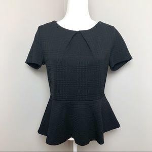 🌟 3/$20 🌟 ELLE Black Peplum Textured Blouse | M